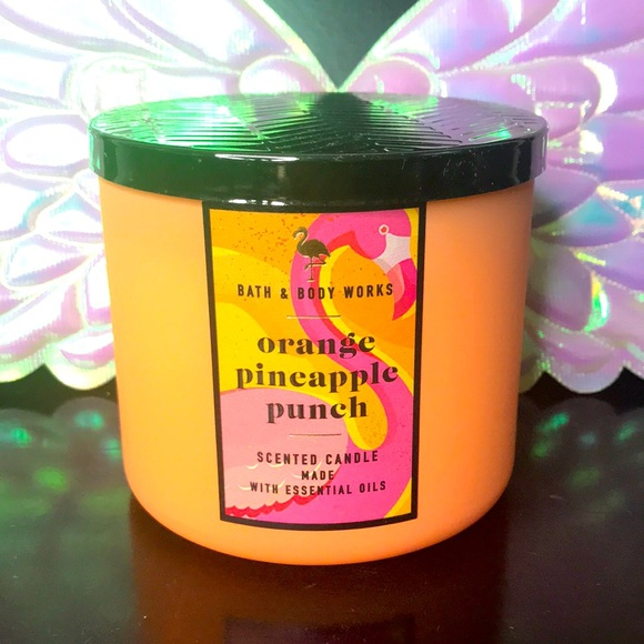 BBW 3 wick candle Orange Pineapple Punch